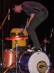 Graham on bass drum