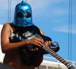 King Khan on guitar