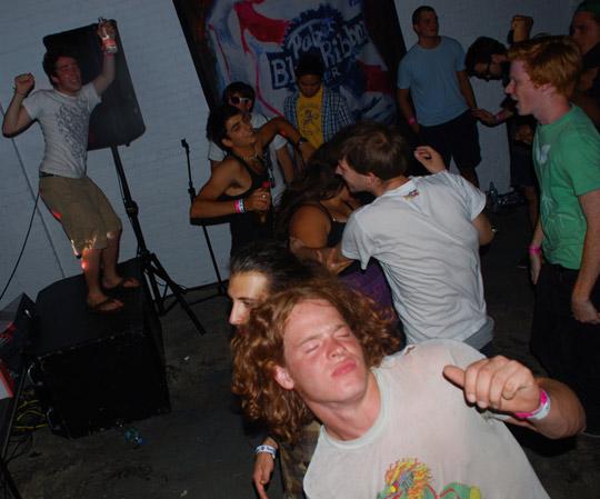 Too many dicks / On the dance floor!