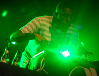 Flying Lotus in green