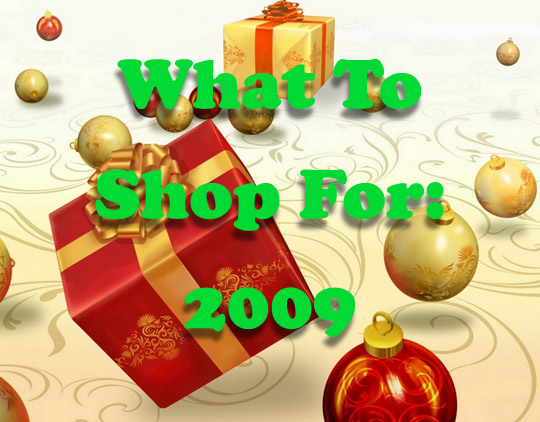 What To Shop For : 2009