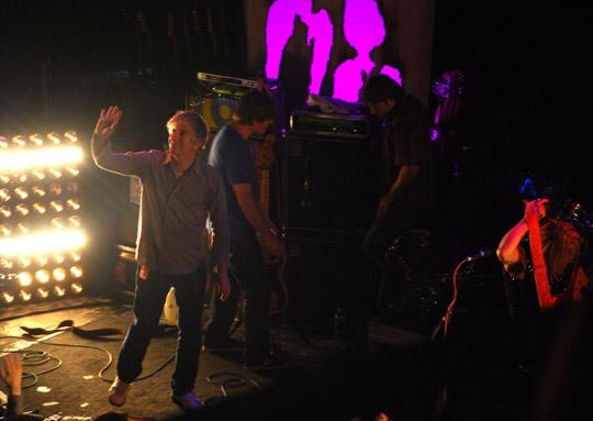 Sonic Youth waving goodbye