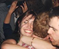 ecstatic girl & her boyfriend