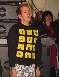 Perez Hilton & ugly sweatshirt
