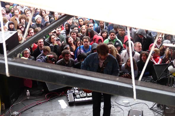 The Black Keys from behind