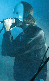Andrew Wyatt with mask