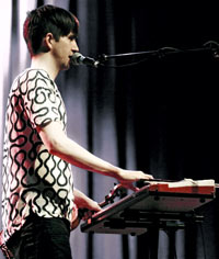 Pallett on vocals & keys