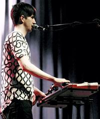 Pallett on vocals & keys