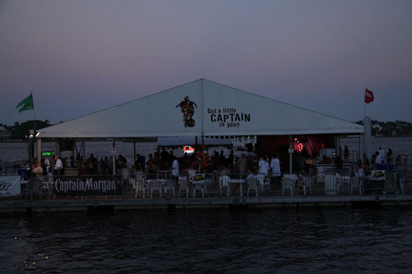 Captain Morgan's party barge