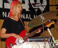 Erika Foster on bass