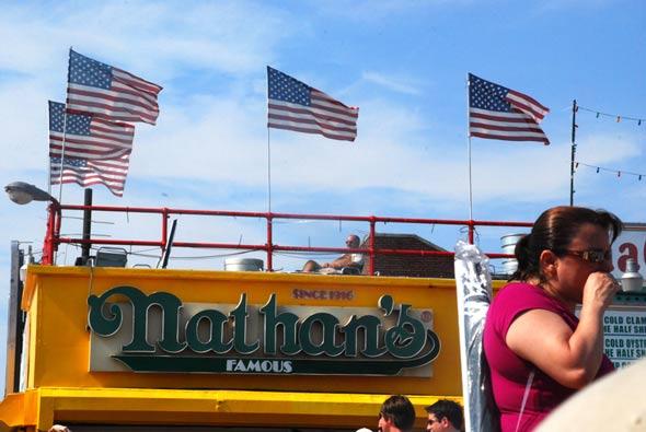 Nathan's #1! U.S.A. #1!