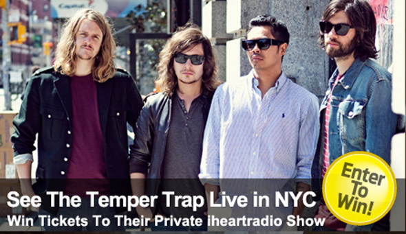 The Temper Trap Ticket Giveaway