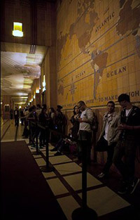 line for PC Richard and Son Theater