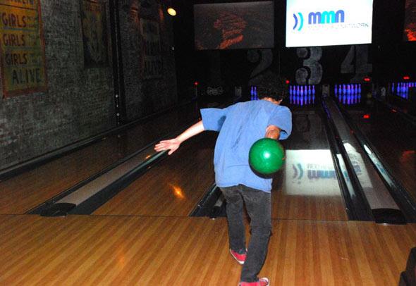Ira throws a gutter ball