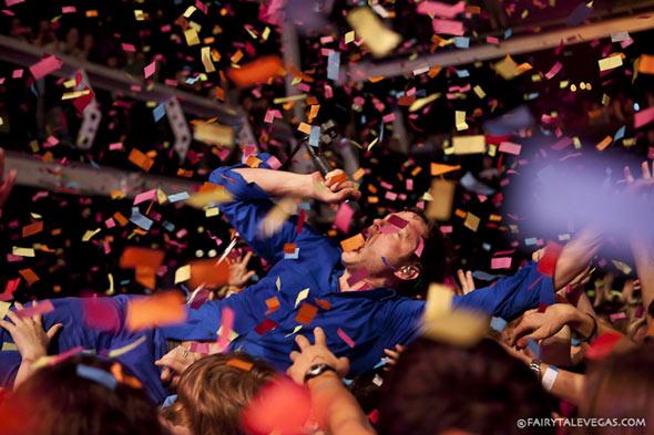 OK Go crowd-surf