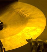 broken cymbal