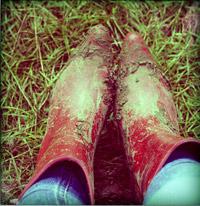 muddy Wellingtons