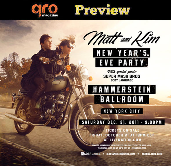 Matt & Kim on New Year's Eve Preview