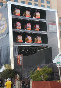 Doritos Stage/giant vending machine