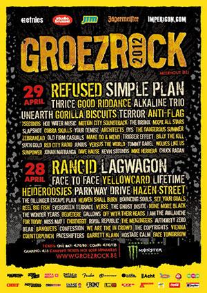 Groezrock 2012 line-up