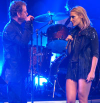 brown-eyed Lou Reed & Emily Haines