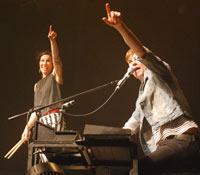 Matt & Kim pointing at you?