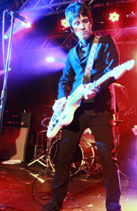Johnny Marr in black