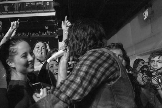 Adam Lazzara & crowd