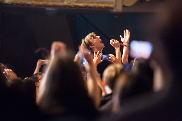 Thomas Mars in the crowd