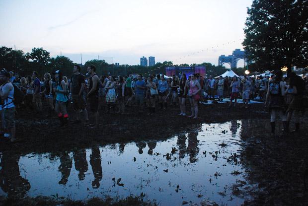 the mud