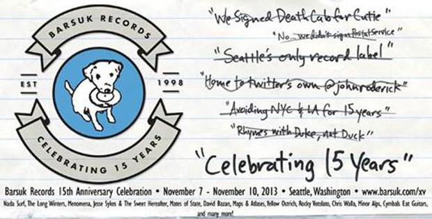 Barsuk Records 15th Anniversary