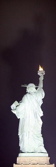 Statue of Liberty - and her shadow