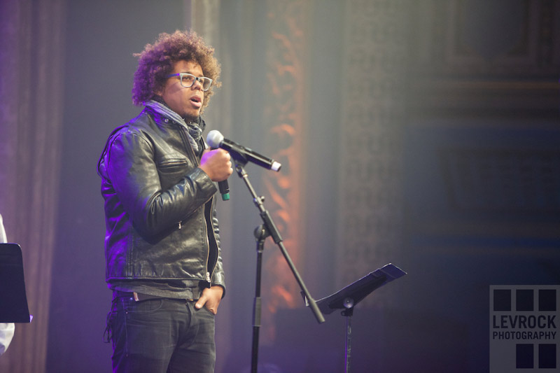 Jake Clemons introducing Paul Shaffer as the 'Big Man of the Year' recipient.