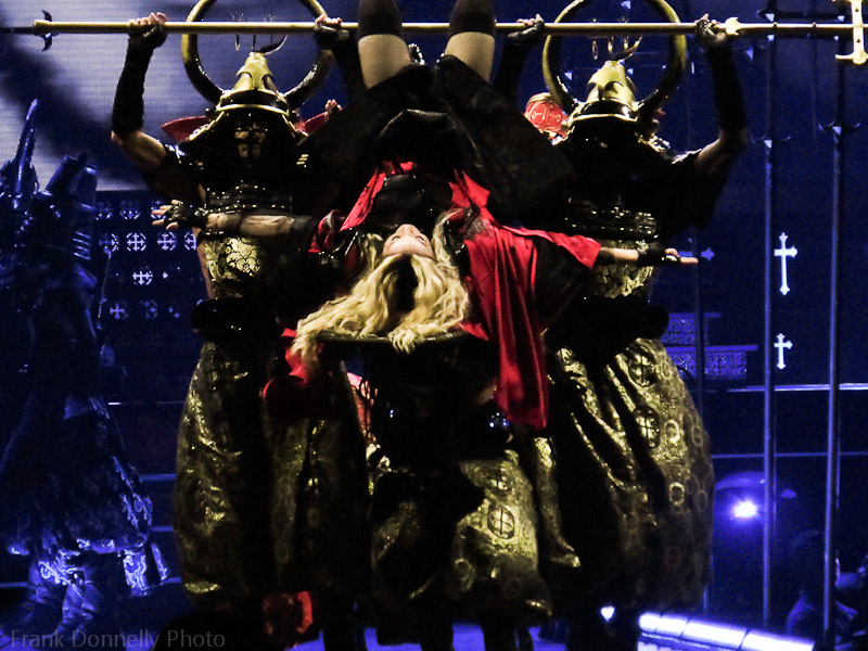 Madonna, upside-down