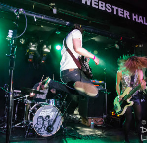 The Subways onstage at The Studio at Webster Hall in New York City.