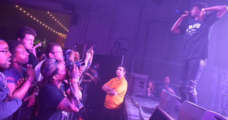 Danny Brown & crowd