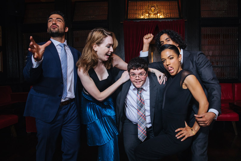 Gavin Grimm with the cast of Sense8