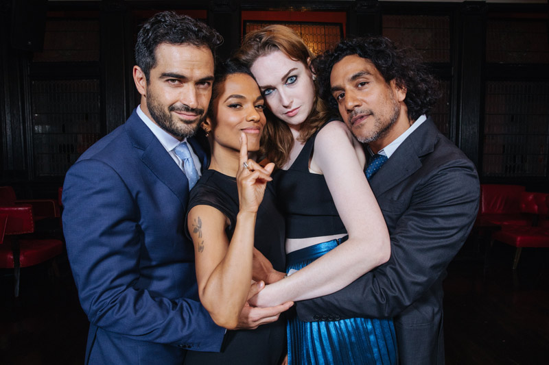 cast of Sense8 - Alfonso Herrera, Freema Agyeman, Jamie Clayton and Naveen Andrews