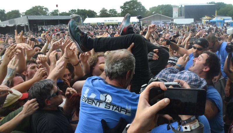 Kinsella in the crowd