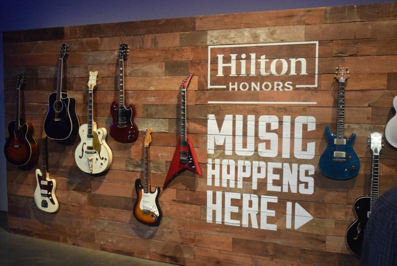 Hilton Honors' Music Happens Here