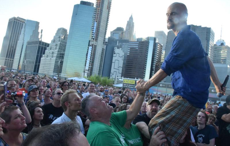 Tim Booth & crowd