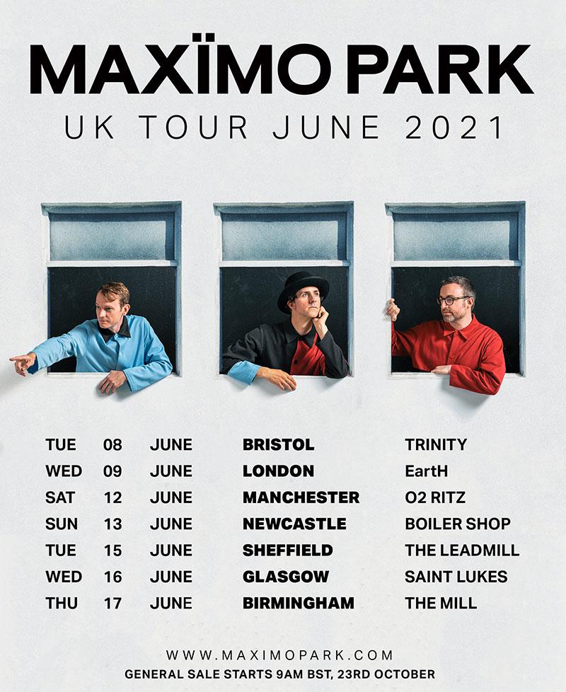 Maxîmo Park 2021 tour