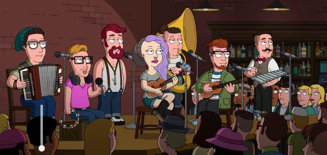 Of Monsters and Men 'on' Family Guy